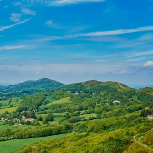 ... and as a treat we had a day off school walking up The Malvern Hills!